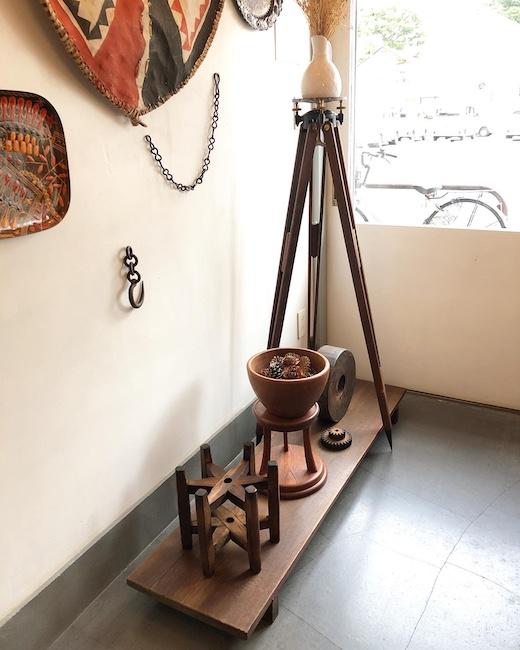 古道具、裁板、糸車、扇風機台、三脚、ディスプレイ什器、アンティーク