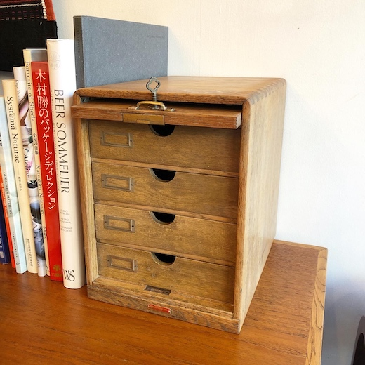 木製家具、古道具、小引き出し、レターケース、引き出し収納、ヴィンテージ家具、ジャパニーズモダン