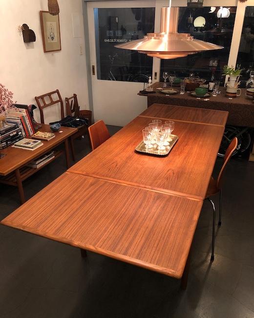 北欧ヴィンテージ家具、ドローリーフテーブル、チーク家具、北欧モダン、ダイニングテーブル
