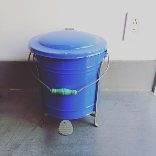 ペダルビン、ホーロー、レトロモダン、1960s、ペダル式ゴミ箱