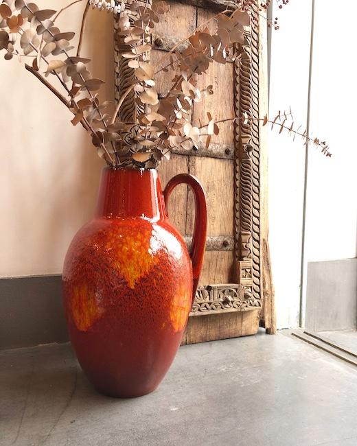 ファットラヴァ、西ドイツ、溶岩、陶器、fatlava、ヴィンテージ陶器、花瓶、モダン