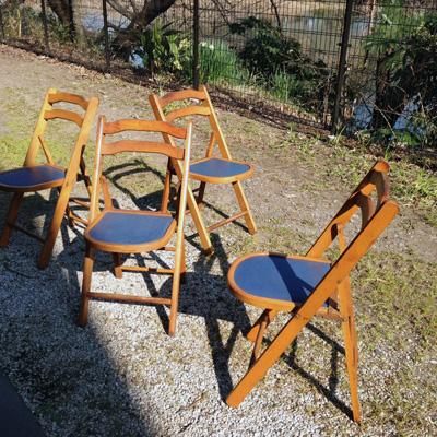 折りたたみ椅子、飛騨産業、ヴィンテージ