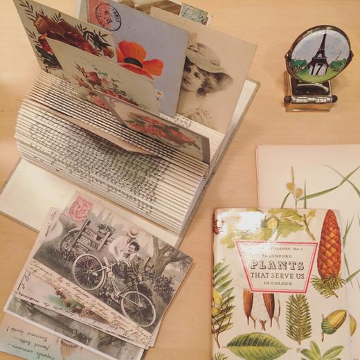 フレンチアンティーク、フレンチ雑貨、ポストカード、絵葉書、ロマンチック、ボタニカルアート、植物図鑑
