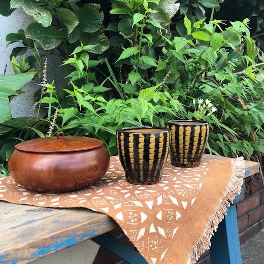 民陶、スリップウェア、丸三陶器、布志名焼、バーナードリーチ、ヴィンテージ食器
