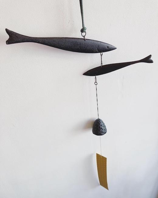 南部鉄器、風鈴、魚、若鮎、和モダン、ヴィンテージ雑貨、夏支度