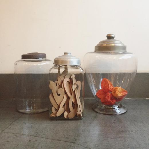 アンティークガラス、地球瓶、ガラス瓶、保存容器、戦前ガラス