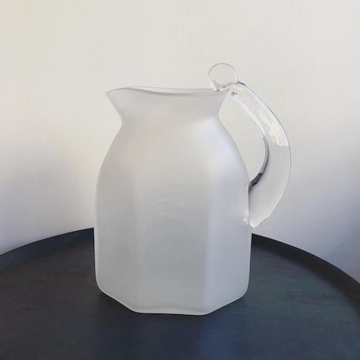 ガラス工芸、イギリス人作家、ガラス器、ピッチャー、stevennewell、flatjug、京都国立近代美術館