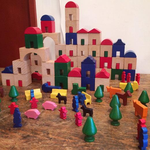 ドイツ、ハバ、積み木、木のおもちゃ、知育玩具、アムステルダム