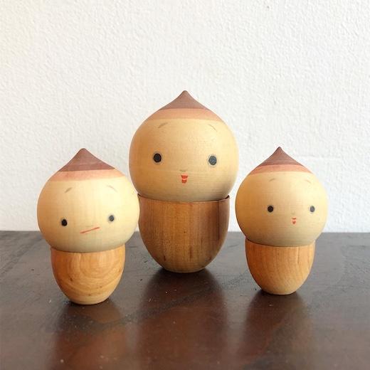 お土産こけし、豆こけし、箱根温泉、郷土玩具、ヴィンテージ雑貨