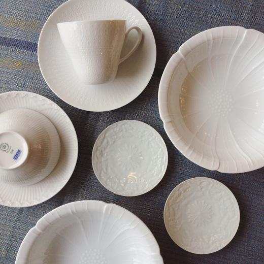 白磁、白い器、ヴィンテージ食器、ロイヤルコペンハーゲン、ローゼンタール、白山陶器