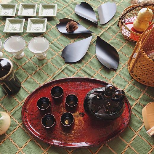 和食器、花見酒、酒器、ハレの日の器、ヴィンテージ、テーブルコーディネート