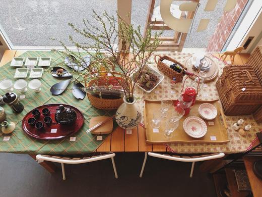 お花見、テーブルコーディネート、和洋折衷、ナンセンス下北沢、最新店内