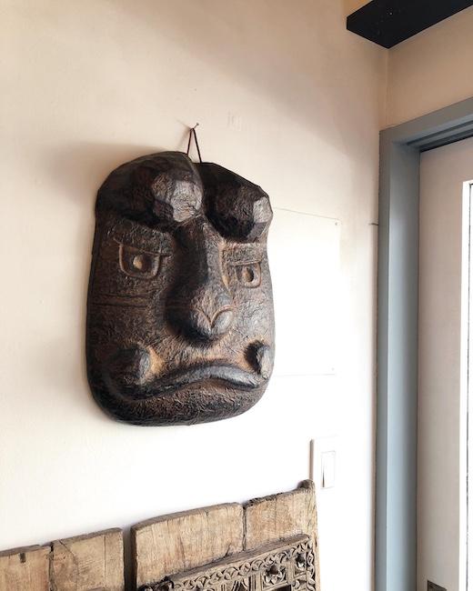 道神面、宮田嵐村、張り子、お面、郷土玩具、松本市