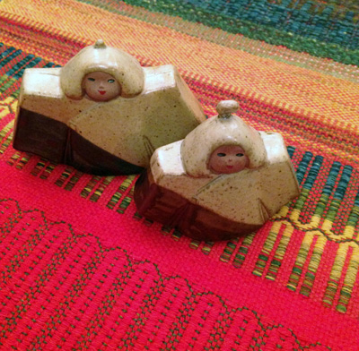 雛人形、箱根焼、陶器