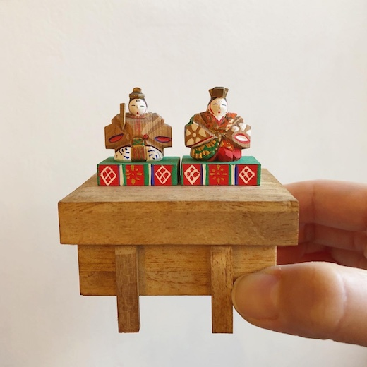奈良一刀彫、豆雛、雛人形、雛こけし、農民美術、郷土玩具