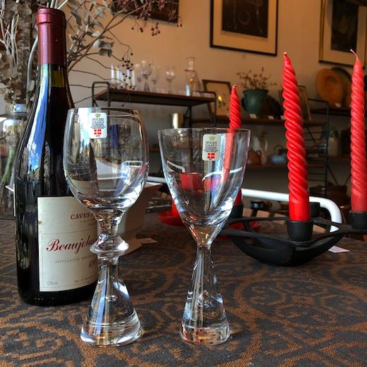 北欧ヴィンテージ、ホルムガード、プリンス、プリンセス、ワイングラス