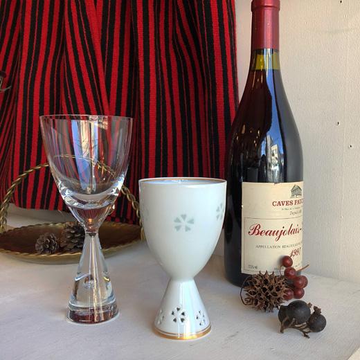 ヴィンテージワイングラス、北欧ガラス、ホルムガード、プリンセス、有田焼、蛍手、中島文山、ボジョレーヌーヴォー
