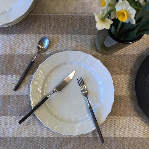 フッチェンロイター 、ドイツ食器、白磁、アダム&イヴ、カトラリーセット、モダン、ゼブラウッド、ヴィンテージ食器