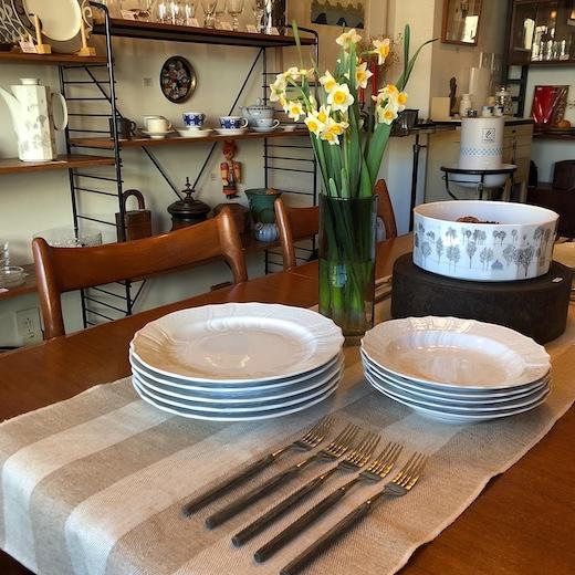 フュッチェンロイター、白磁、白い食器、ドイツ食器、アダム&イヴ、カトラリーセット