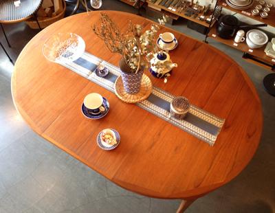 チーク家具、ダイニングテーブル、デンマーク、北欧ヴィンテージ