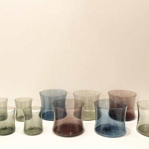 北欧ヴィンテージガラス、イッタラ、ティモサルパネヴァ、i-line、i104、モダンデザイン、グラス