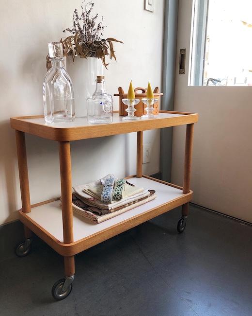 剣持勇、山口木材工芸、ワゴン、ジャパニーズモダン、ヴィンテージ家具