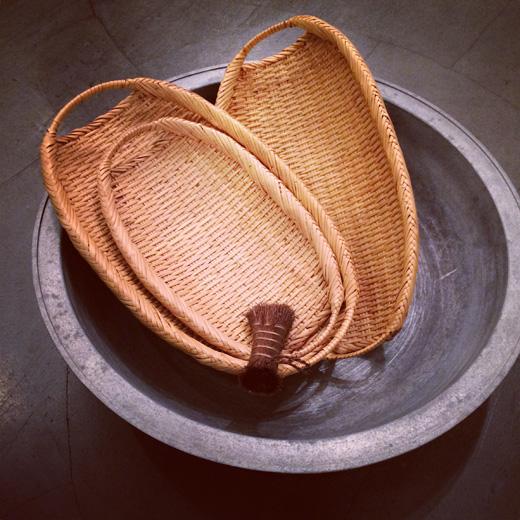 岩手、鈴竹楕円ざる、暮らしの道具、竹かご、ハンドクラフト