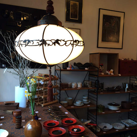 戦前、電笠、ペンダントランプ、アンティーク、骨董、乳白ガラス、銅飾り