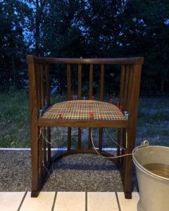 籐椅子、ジャパニーズモダン、アールデコ、木の椅子、籐張り、ナンセンス下北沢