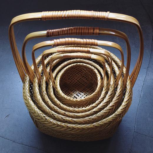 入れ子、竹籠、竹かご、手仕事、クラフト、竹工芸