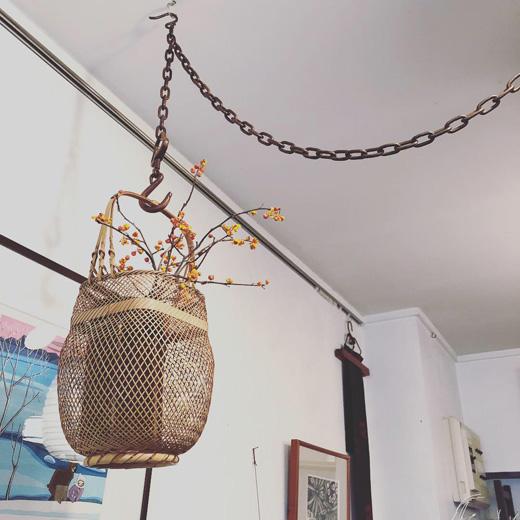釜鎖、茶道具、山本閑浄、竹花籠、吐月峯、工芸、モダンインテリア、和モダン、みたて、ヴィンテージ