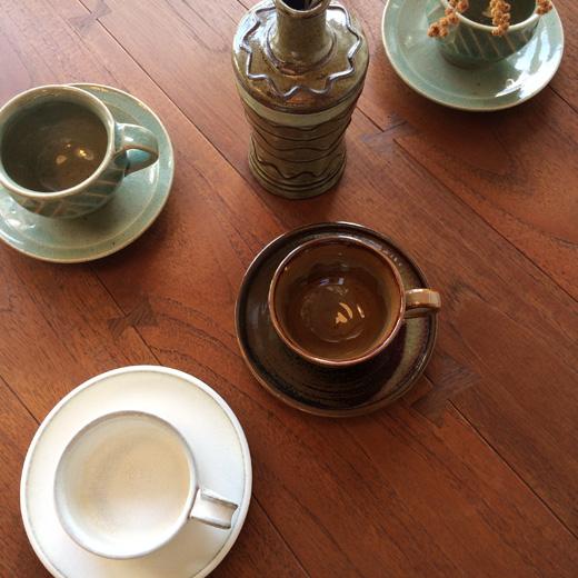 コーヒー碗皿、民芸、器、和食器、ヴィンテージ、作家もの