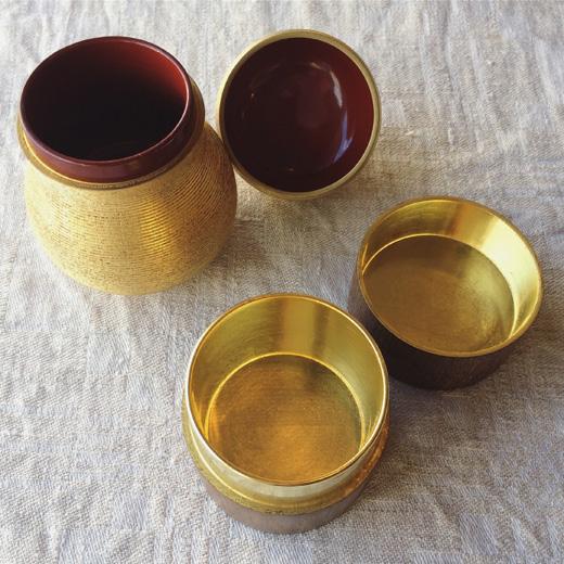 山田平安堂、漆器、工芸、金瓢箪、中次、桑、棗、茶道具、古道具