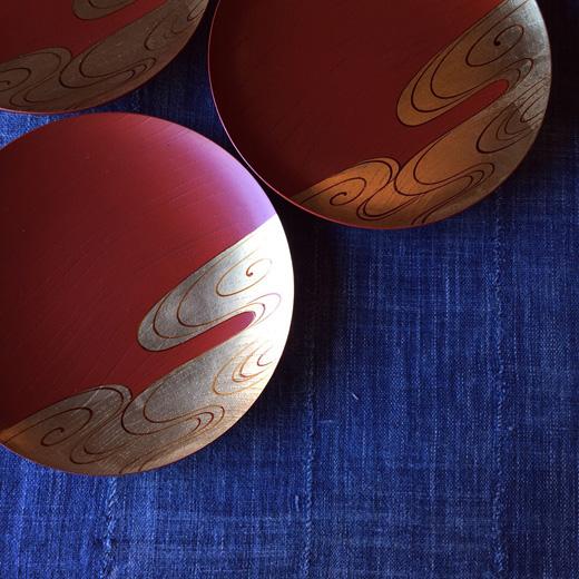 山田平安堂、漆器、器、呉藤友乗、光琳水、流水紋、和モダン