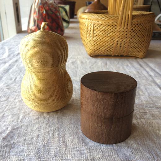 山田平安堂、漆器、千成瓢箪、金瓢箪、小物入れ、桑、中次、茶道具、和巾棗