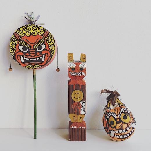 大津絵、鬼の寒念仏、節分、郷土玩具、民芸、鬼、古道具