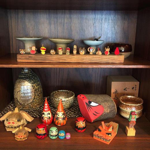 郷土玩具、クラフト、モダン、こけし、民芸、縁起物、干支もの、亥、ダルマ、獅子舞