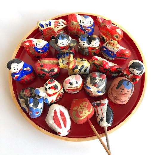 宮内フサ、高松張子、つまみ人形、郷土玩具、正月飾り