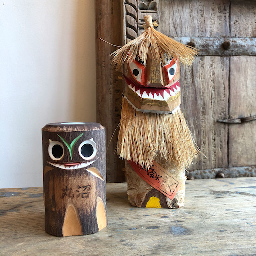 郷土玩具、木彫り、こけし、山精、仙人、ヴィンテージ、クラフト