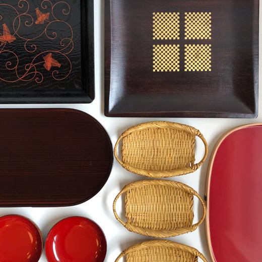 和食器、漆器、塗物、盆、トレー、お正月食器、象彦、モダンクラフト