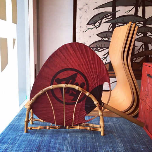団扇立て、竹工芸、クラフト、古道具、和モダン