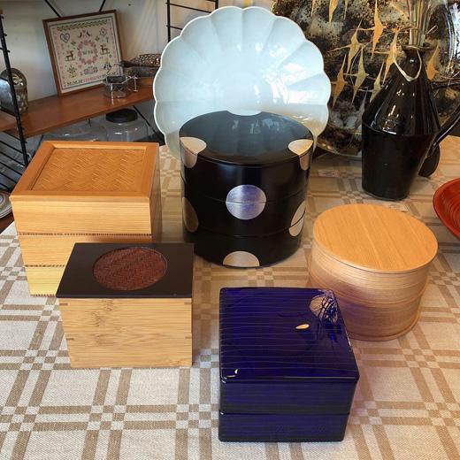 重箱、塗物、曲げわっぱ、箱もの、お正月準備、切子、河上恭一郎、山田平安堂