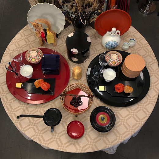 お正月準備、お正月のしつらえ、和食器、漆器、ハレの日の器、和モダンインテリア