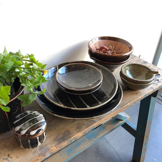 民芸陶器、民陶、益子焼、平清水焼、和食器、ヴィンテージ、クラフト