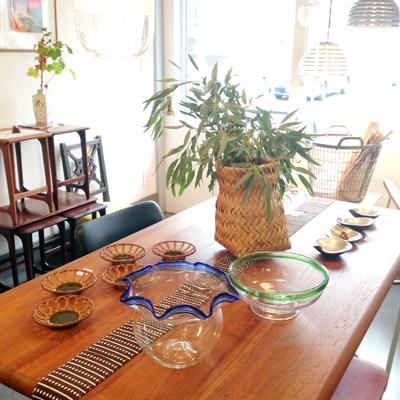 日本の夏、金魚鉢、ディスプレイ、コーディネート