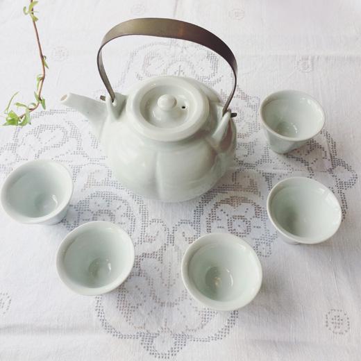 白磁茶器セット、クラフト、作家もの、器、白磁、モダンデザイン