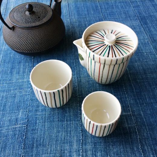 旅持ち茶器、清水焼、煎茶器、入れ子、器、ヴィンテージ、茶道具