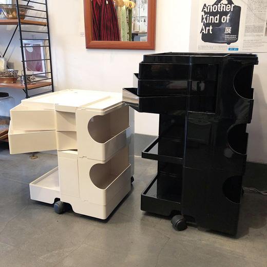 ボビーワゴン、ジョエコロンボ、デザイン家具、モダンデザイン、ヴィンテージ、白黒