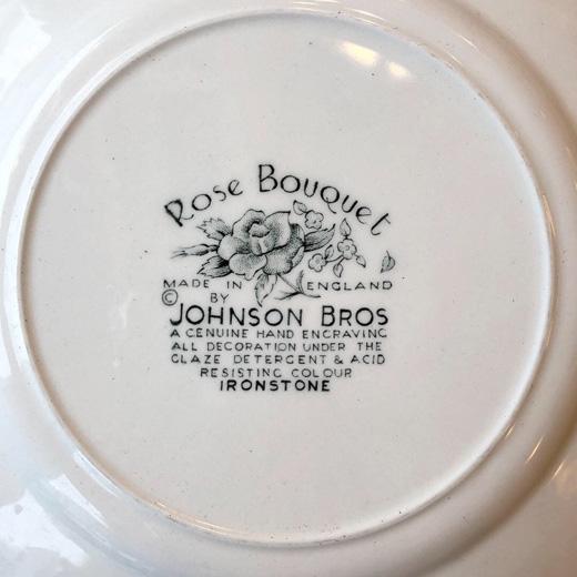 イギリス食器、ヴィンテージ、ジョンソンブラザーズ、ローズブーケ、バラ、johnsonbrothers