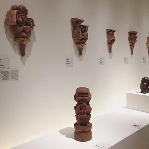 河井寛次郎展、パナソニック汐留ミュージアム、木彫、招き猫